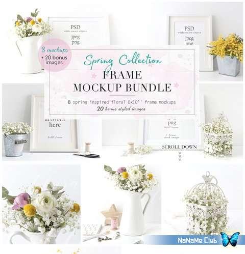 Шаблоны - Creative Market - SAVE 35% Spring Frame Mockup Bundle - 2355883 [PSD, JPG, PNG]