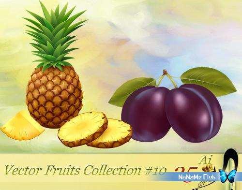 Векторный клипарт - Vector Fruits Collection #10 [AI]