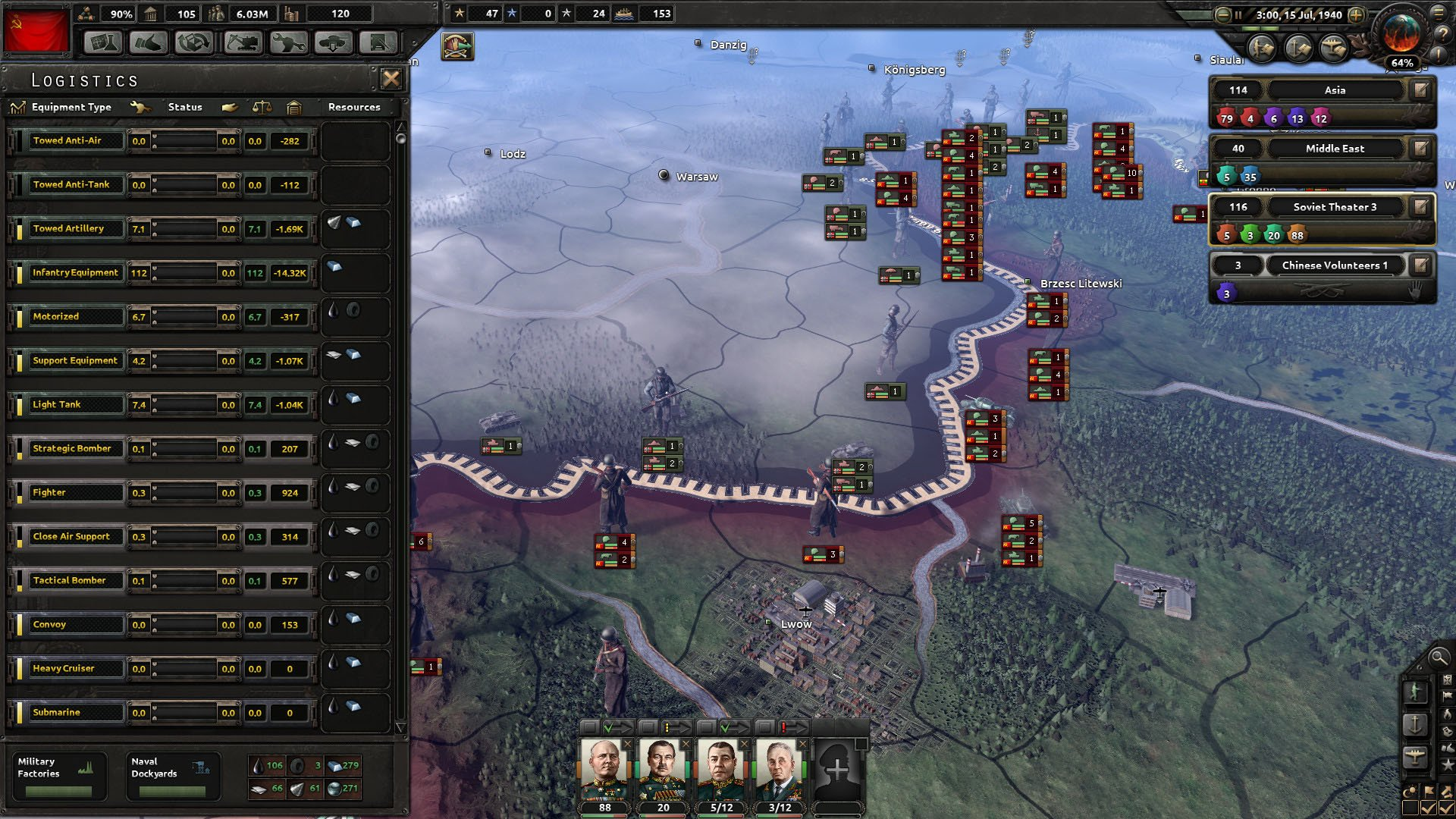 Hearts of Iron IV: Field Marshal Edition [v 1.5.3 + DLC's] (2016) PC