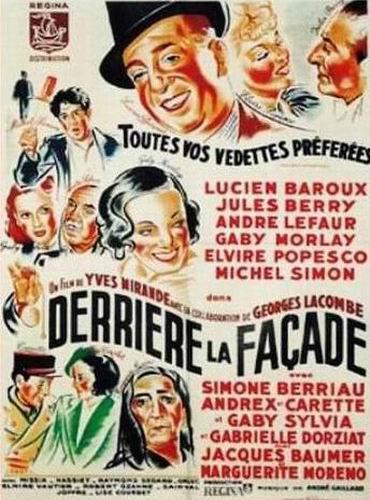 За фасадом / Derrière la façade (Жорж Лакомб / Georges Lacombe, Ив Миранд / Yves Mirande) [1939, Франция, драма, детектив, DVD5 (Custom)] VO (Матвей Кенс) + Sub Rus (Lisok) + Original Fre
