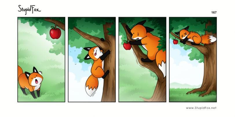 Лиса на дереве