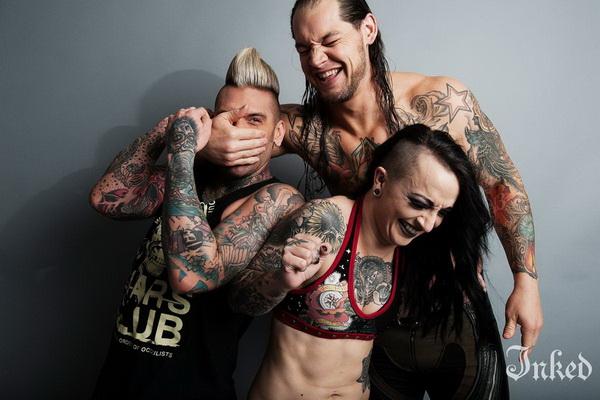 Татуированные звезды WWE. Фотосет для журнала Inked