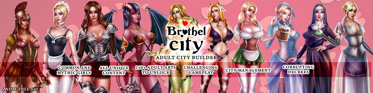 Brothel City / Публичный город [2018] [Uncen] [ADV, SLG, RTS] [ENG,RUS] H-Game