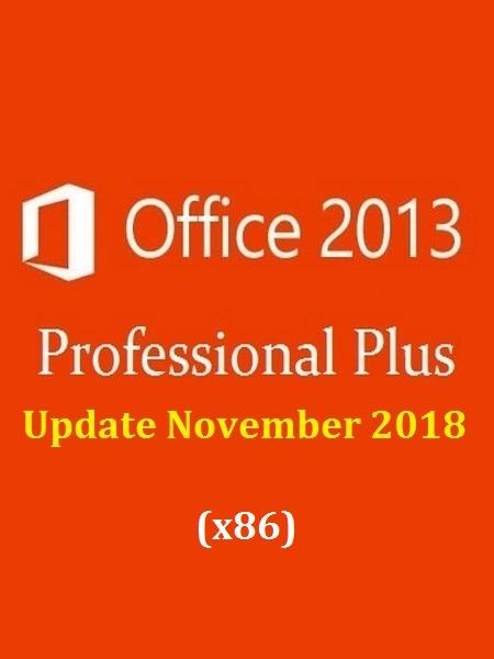 Office 2013 SP1 Pro Plus VL Multi-22 (x86) November 2018