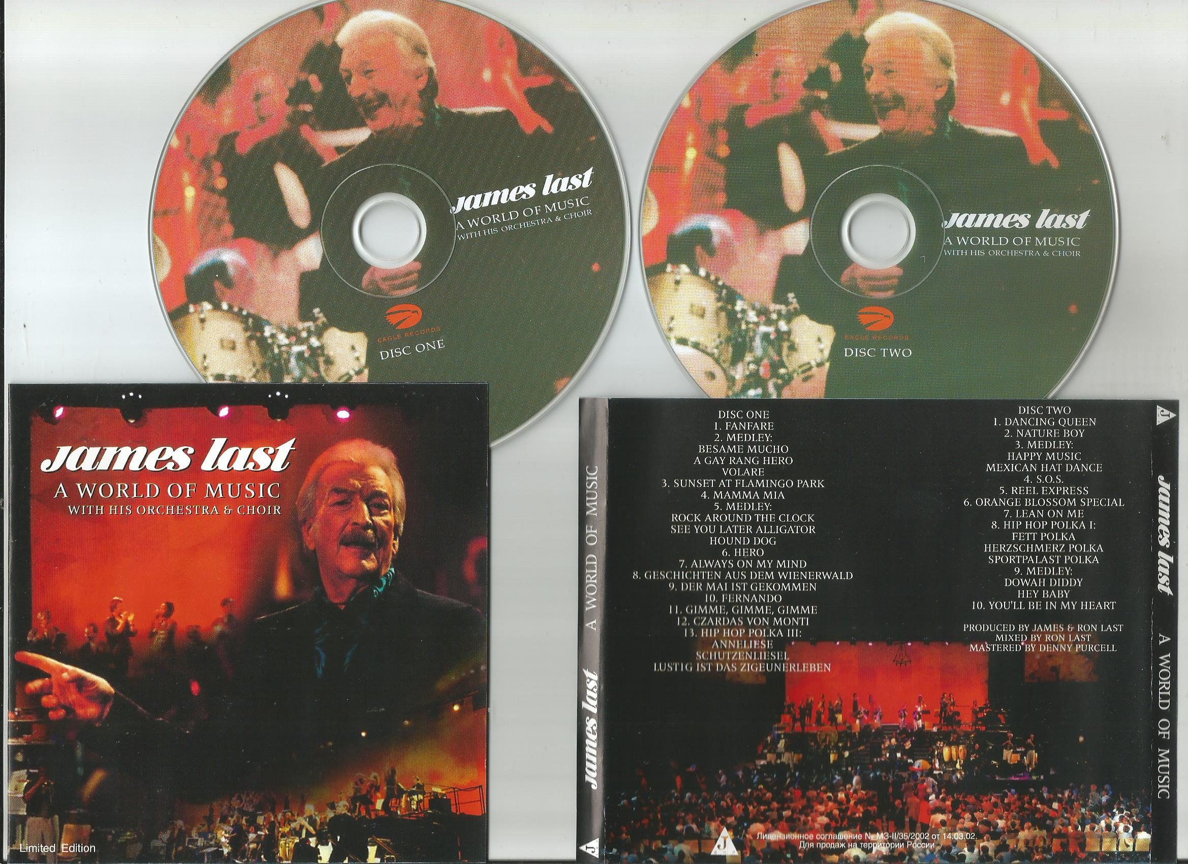 LAST, JAMES A World Of Music (with His orchestra & choir)(limited  edition)Die Grossten Songs Von The Beatles