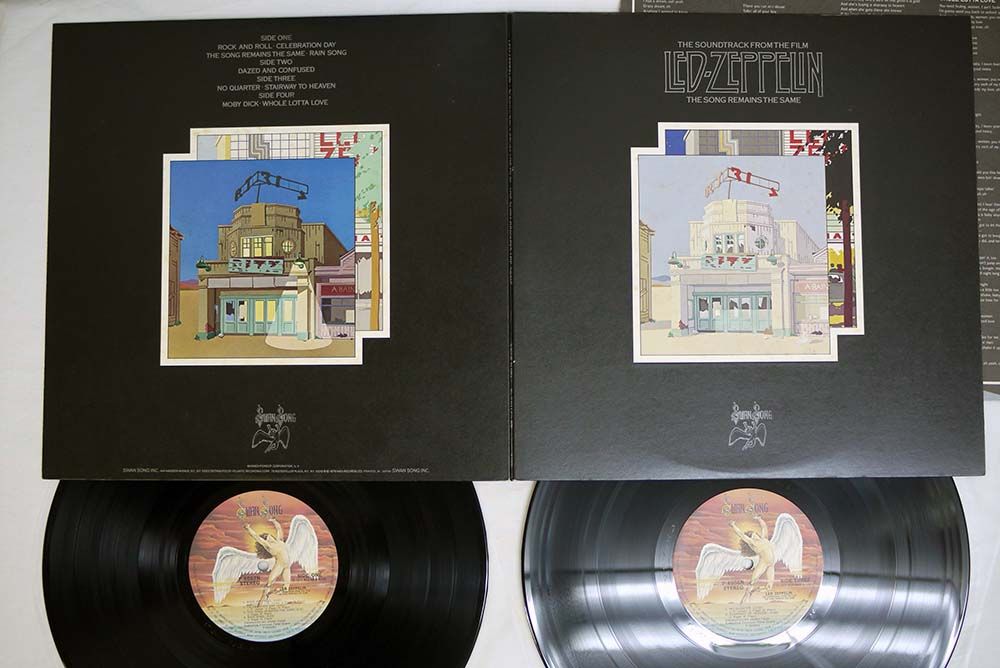 LED ZEPPELIN The Song Remains The Same (gatefold perfect cover, perfect  near mint vinyls, japan insert, no obi, n
