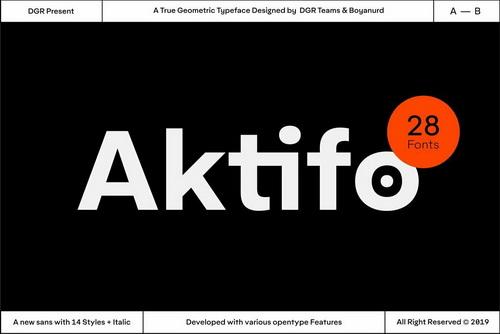 Шрифт Aktifo