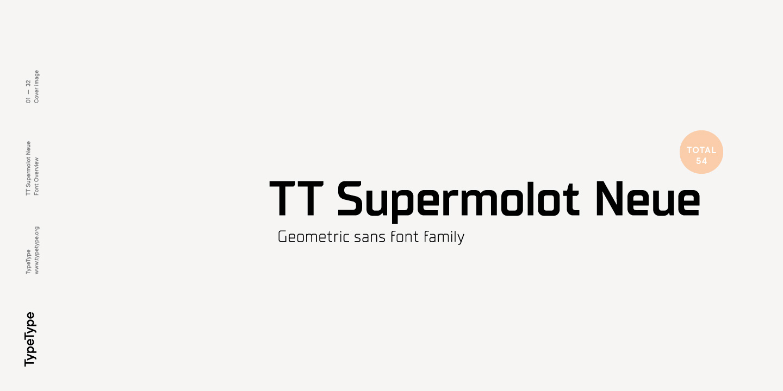 Шрифт TT Supermolot Neue