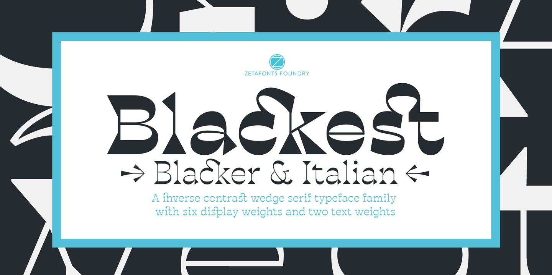 Шрифт Blackest