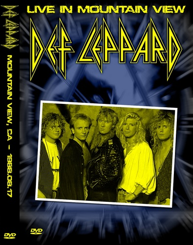Def Leppard - Live in Mountain View 1988 (2014, DVD5)
