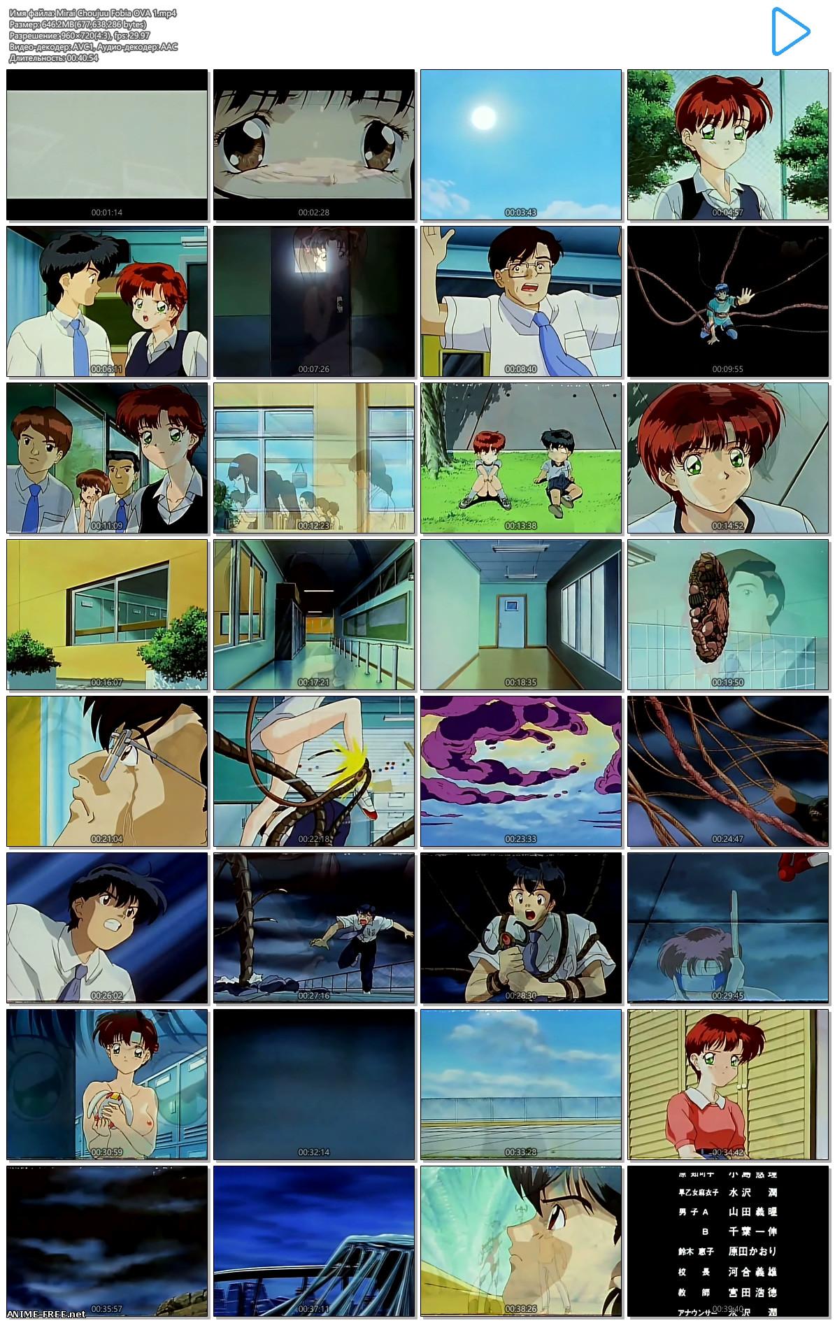 Mirai Choujuu Fobia / Фобия [Ep.1-2] [ENG,JAP,RUS] [720p] Anime Hentai