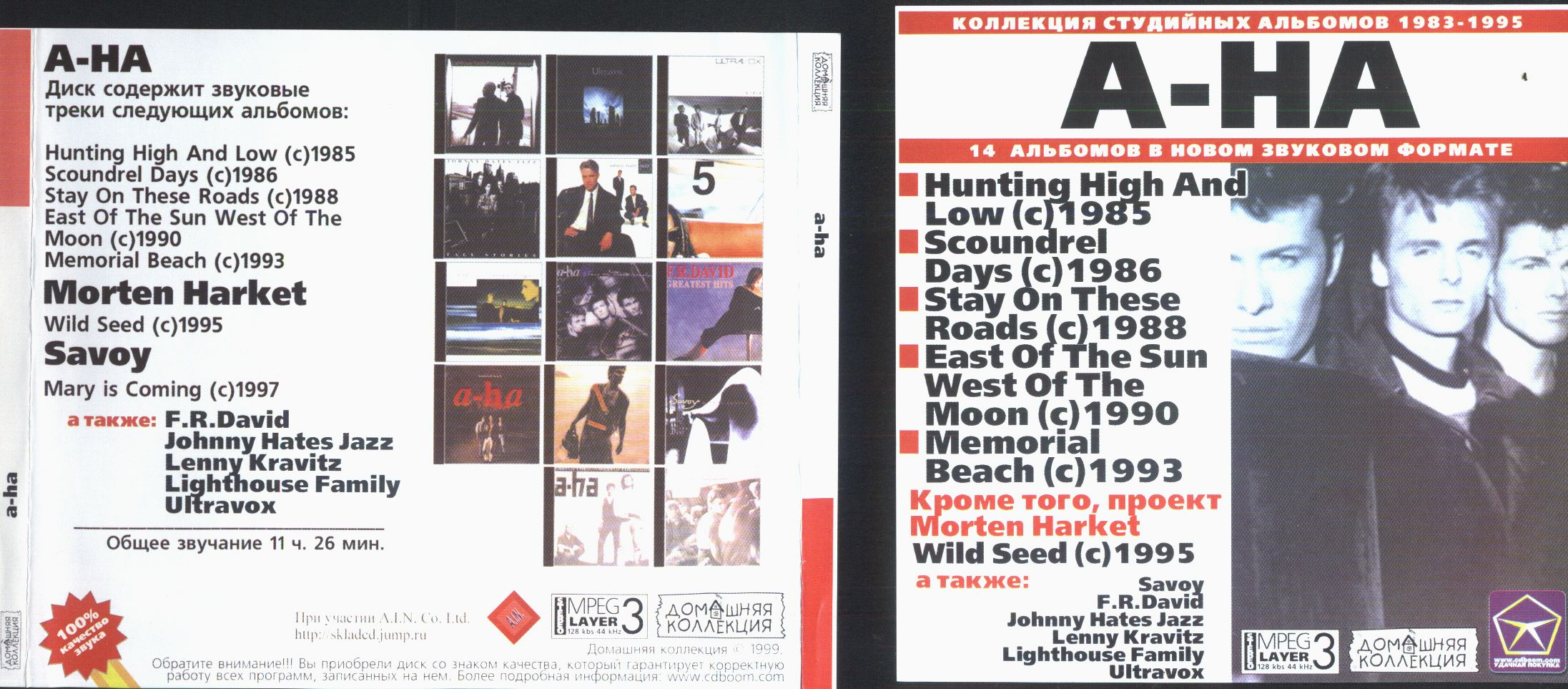 A-HA Collection including following full albums albums by AHA are following: Hunting High And Low/ scound