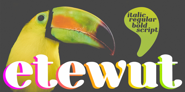 Шрифт Etewut Serif