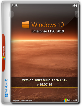 Windows 10 Enterprise LTSC 1809 17763.615 by OneSmiLe (x64) (19.07.2019) =Rus=