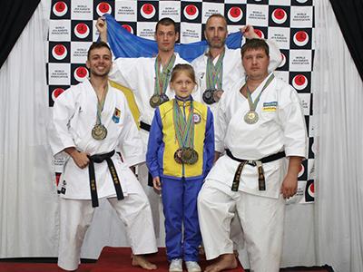 Мариуольцы на VII Чемпионате Мира по каратэ