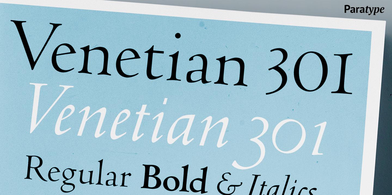 Шрифт Venetian 301