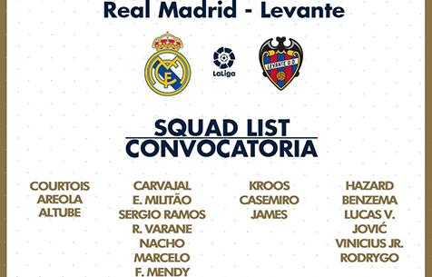 """Заявка """"Мадрида"""" на игру с """"Леванте"""""""