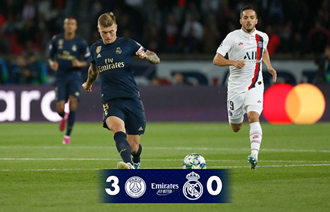 Paris Saint-Germain F.C. - Real Madrid C.F. 3:0