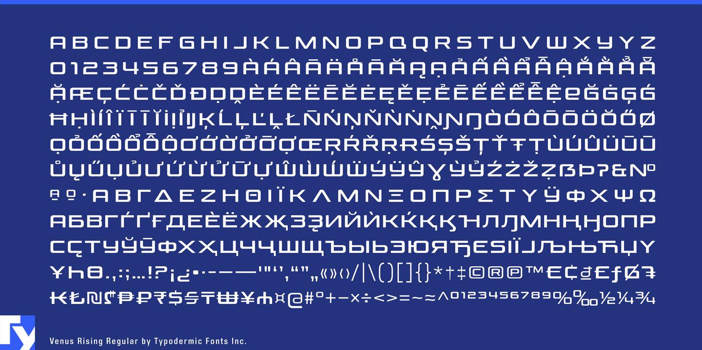 Шрифт Venus Rising