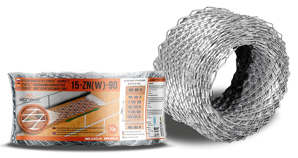 Кладочная сетка STRECK 15-Zn W-90