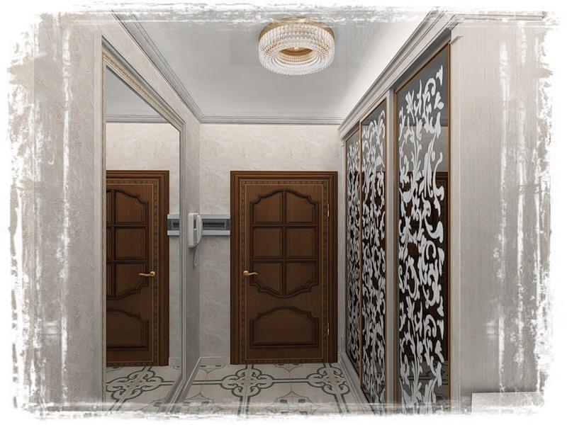 3 практичных встроенных прихожих с зеркалами для узких коридоров