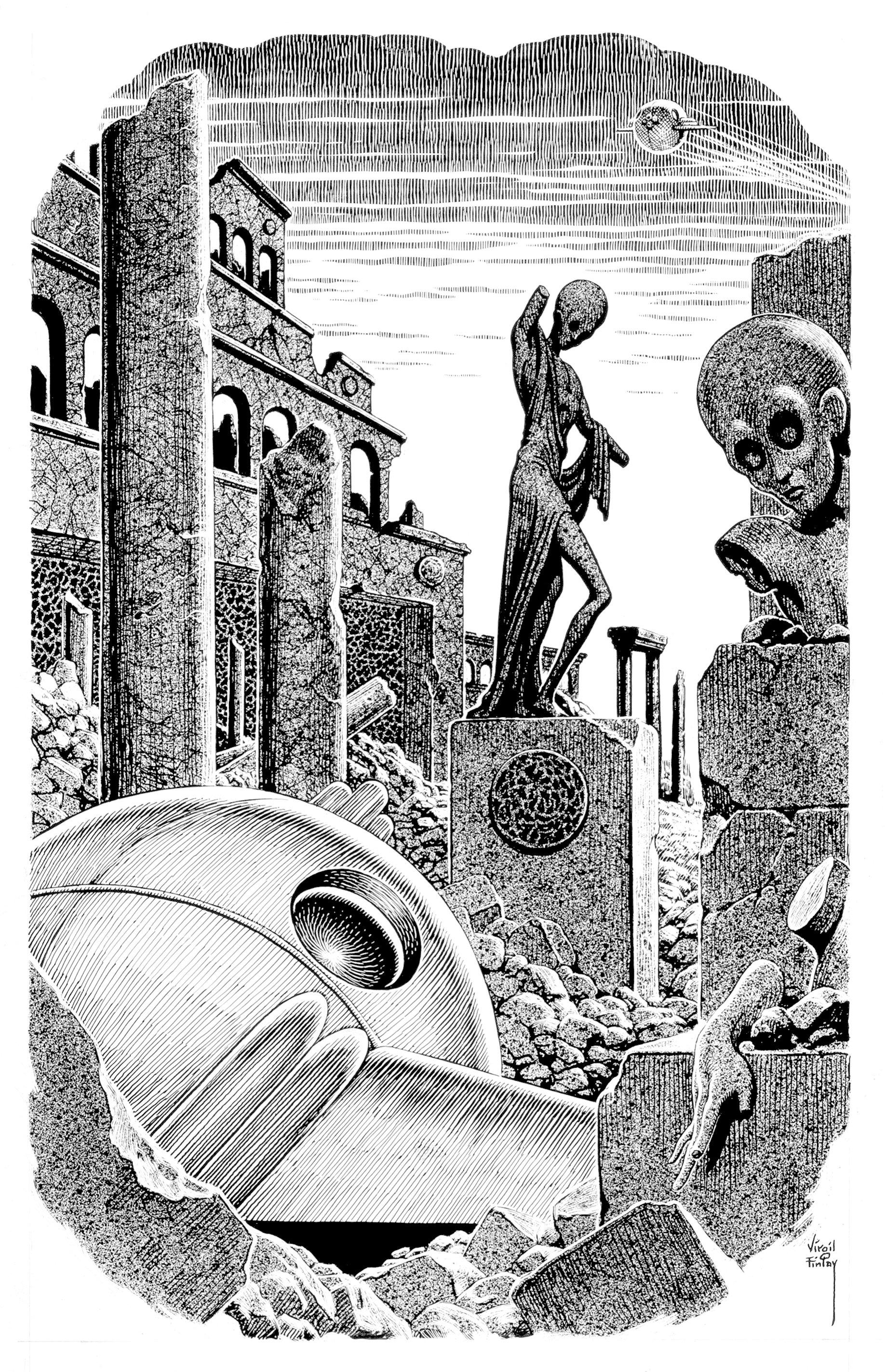 Mercenaries Unlimited, probable science fiction digest interior illustration.jpg