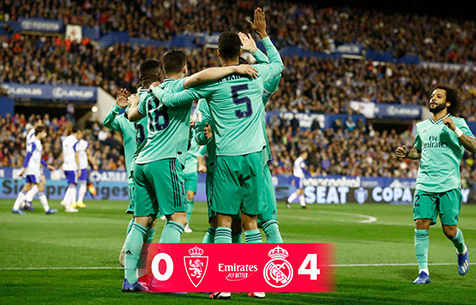 Real Zaragoza S.A.D. - Real Madrid  Real Madrid C.F. 0:4