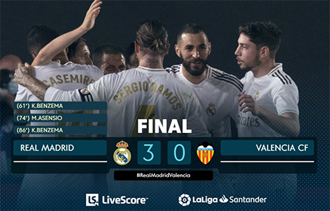 Real Madrid C.F. - Valencia C.F. 3:0