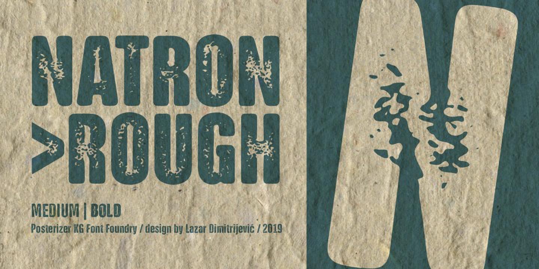 Шрифт NATRON Rough