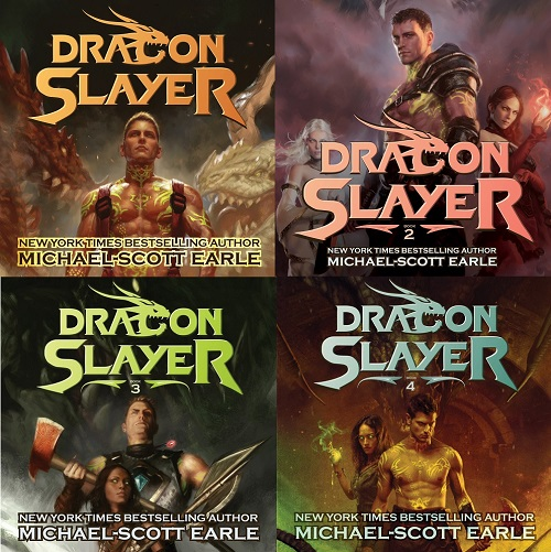 Dragon Slayer Series Books 1-4 - Michael Scott Earle