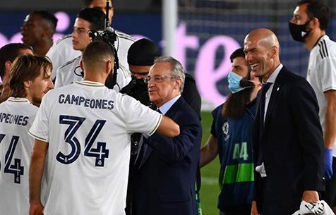 """Перес: """"Зидан - это благословение с небес. Надеюсь, что он в """"Мадриде"""" надолго"""""""