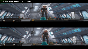 Монстры против пришельцев в 3Д / Monsters vs Aliens 3D  Вертикальная анаморфная