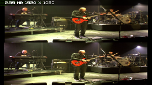 Joe Satriani: Satchurated - Live in Montreal (2010) 3D / 3Д Вертикальная анаморфная