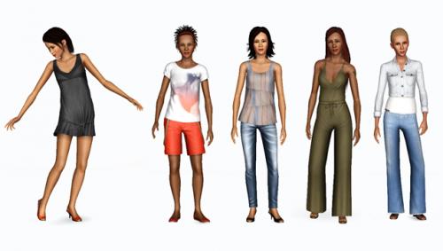 Рендеры одежды и объектов The Sims 3 Diesel.